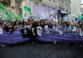 "Members of the Ni Una Menos (""Not One Less"") movement protesting femicide in Buenos Aires in December. Photo Credit Gabriel Sotelo/NurPhoto, via Getty Images"