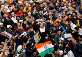 Demonstrators in Delhi, India, protested against the new citizenship law. Credit Danish Siddiqui/Reuters